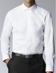 kemeja hitam putih pria